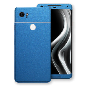 Google Pixel 2 XL Azure Blue Matt Metallic Skin, Decal, Wrap, Protector, Cover by EasySkinz | EasySkinz.com