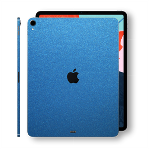 iPad PRO 11-inch 2018 Glossy Azure Blue Metallic Skin Wrap Sticker Decal Cover Protector by EasySkinz
