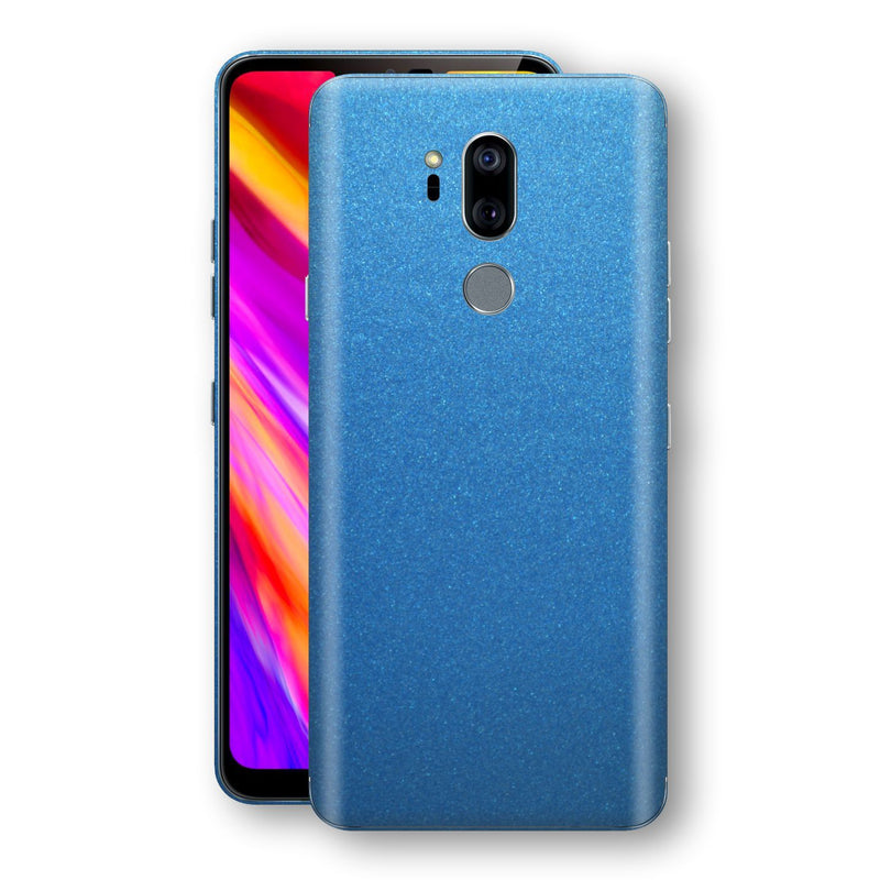 LG G7 ThinQ Azure Blue Matt Metallic Skin, Decal, Wrap, Protector, Cover by EasySkinz | EasySkinz.com