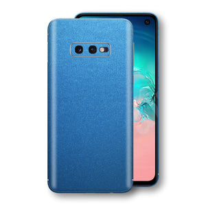 Samsung Galaxy S10e Azure Blue Matt Metallic Skin, Decal, Wrap, Protector, Cover by EasySkinz | EasySkinz.com