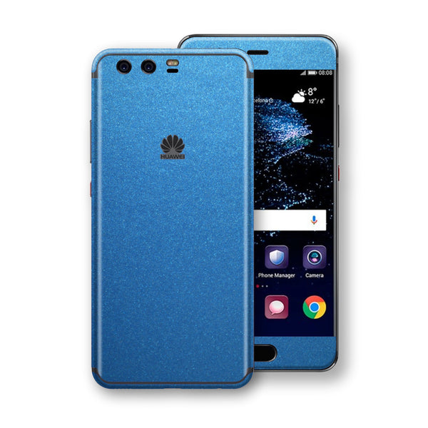 Huawei P10+ PLUS Azure Blue Matt Metallic Skin, Decal, Wrap, Protector, Cover by EasySkinz | EasySkinz.com