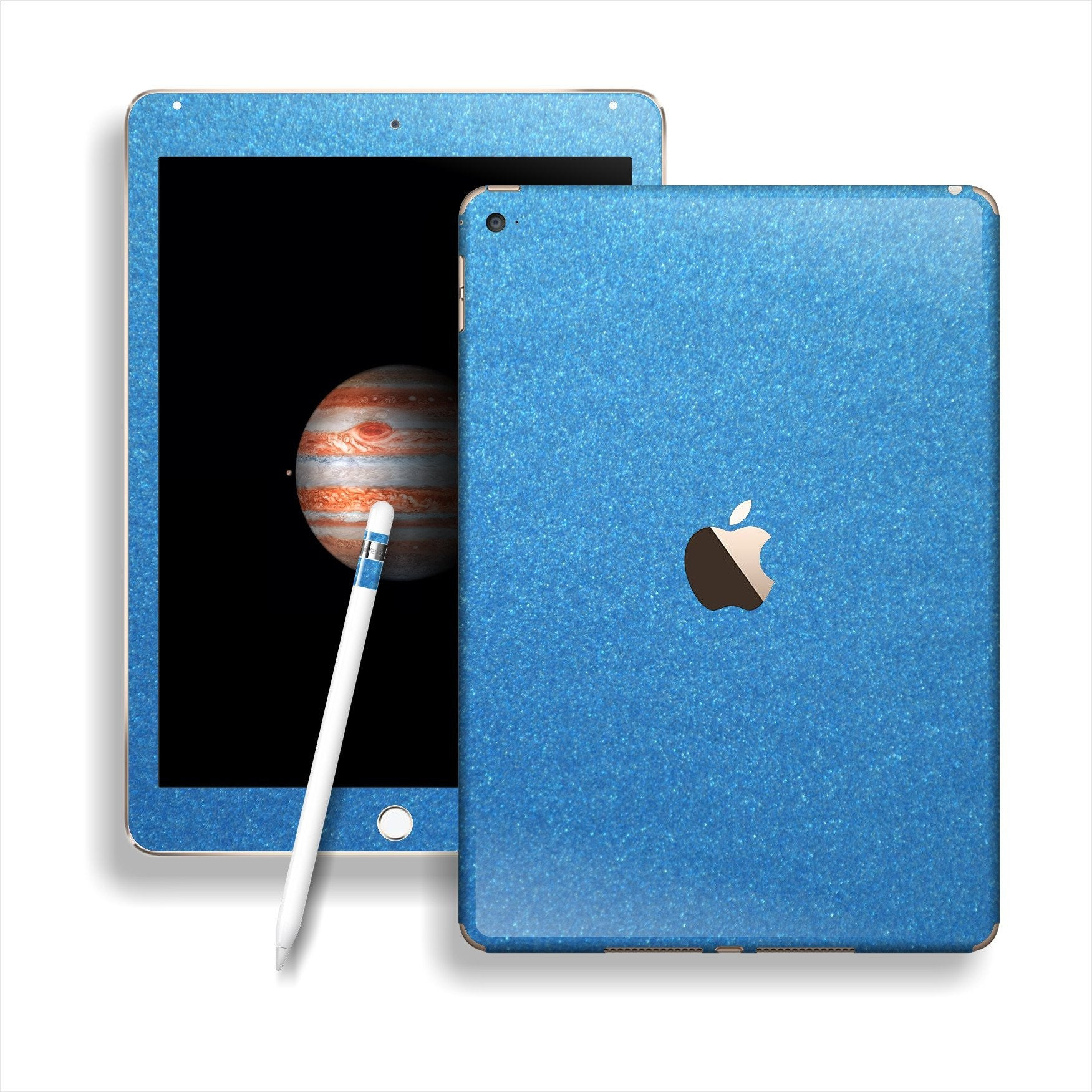 iPad PRO Glossy Azure Blue Metallic Skin Wrap Sticker Decal Cover Protector by EasySkinz