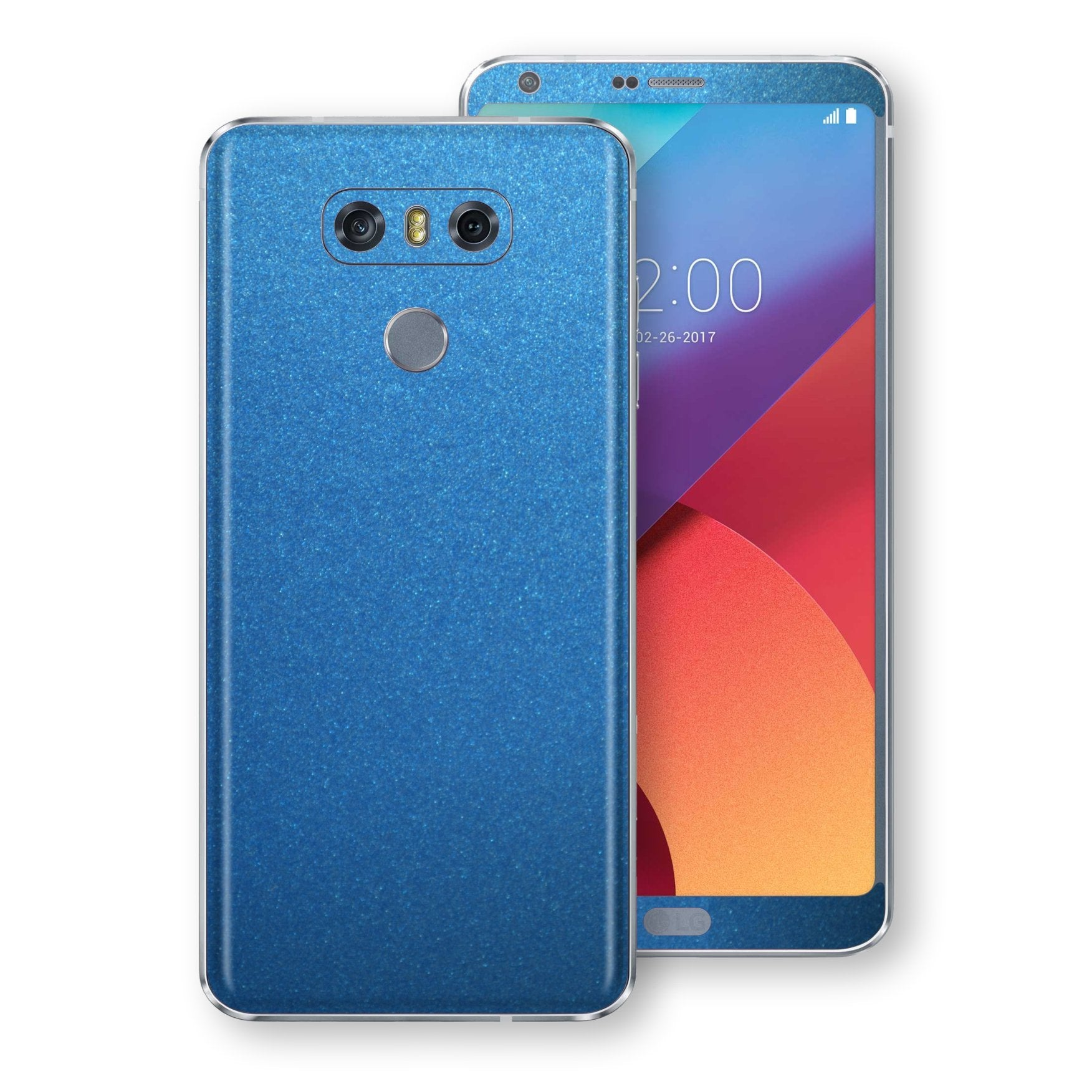 LG G6 Azure Blue Glossy Metallic Skin, Decal, Wrap, Protector, Cover by EasySkinz | EasySkinz.com