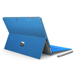 Microsoft Surface PRO 4 Glossy Azure Blue Metallic Skin Wrap Sticker Decal Cover Protector by EasySkinz
