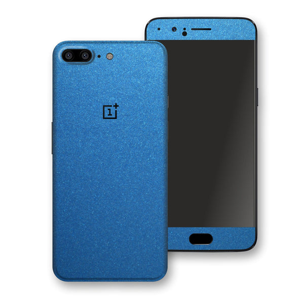 OnePlus 5 Azure Blue Matt Metallic Skin, Decal, Wrap, Protector, Cover by EasySkinz | EasySkinz.com
