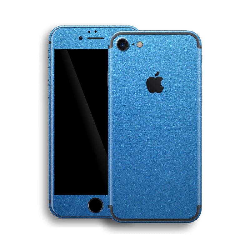 iPhone 7 Azure Blue Glossy Metallic Skin, Wrap, Decal, Protector, Cover by EasySkinz | EasySkinz.com