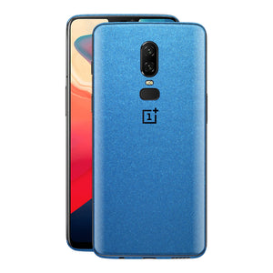 OnePlus 6 Azure Blue Matt Metallic Skin, Decal, Wrap, Protector, Cover by EasySkinz | EasySkinz.com