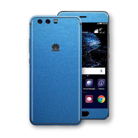 Huawei P10+ PLUS  Azure Blue Glossy Metallic Skin, Decal, Wrap, Protector, Cover by EasySkinz | EasySkinz.com