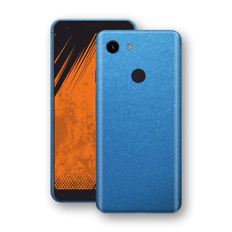 Google Pixel 3a Azure Blue Glossy Metallic Skin, Decal, Wrap, Protector, Cover by EasySkinz | EasySkinz.com