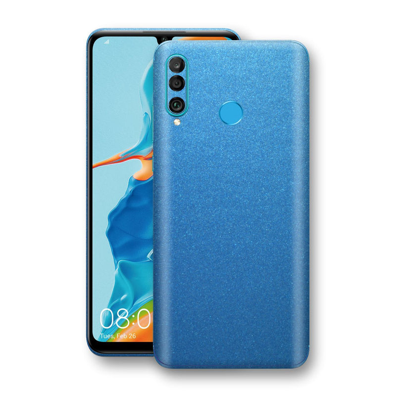 Huawei P30 LITE Azure Blue Glossy Metallic Skin, Decal, Wrap, Protector, Cover by EasySkinz | EasySkinz.com