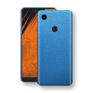 Google Pixel 3 XL Azure Blue Glossy Metallic Skin, Decal, Wrap, Protector, Cover by EasySkinz | EasySkinz.com