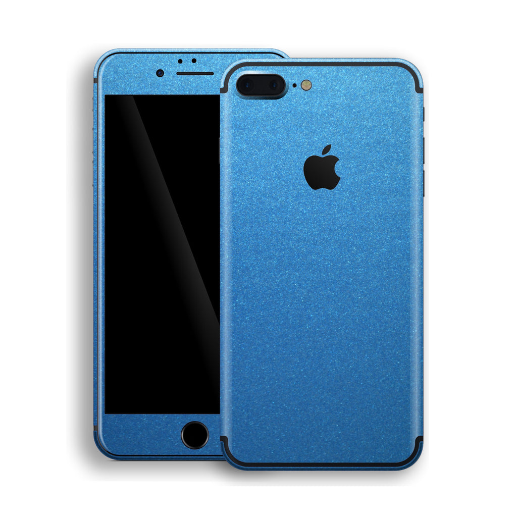 iPhone 7 Plus Azure Blue Matt Metallic Skin, Decal, Wrap, Protector, Cover by EasySkinz | EasySkinz.com