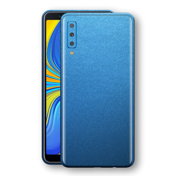 Samsung Galaxy A7 (2018) Azure Blue Matt Metallic Skin, Decal, Wrap, Protector, Cover by EasySkinz | EasySkinz.com