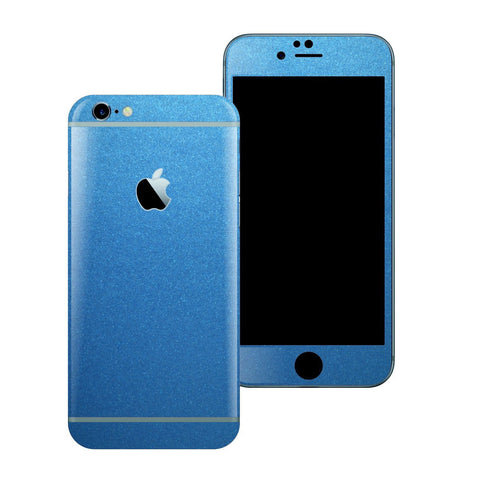 iPhone 6S PLUS Colorful Glossy Azure Blue Metallic Skin Wrap Sticker Cover Protector Decal by EasySkinz