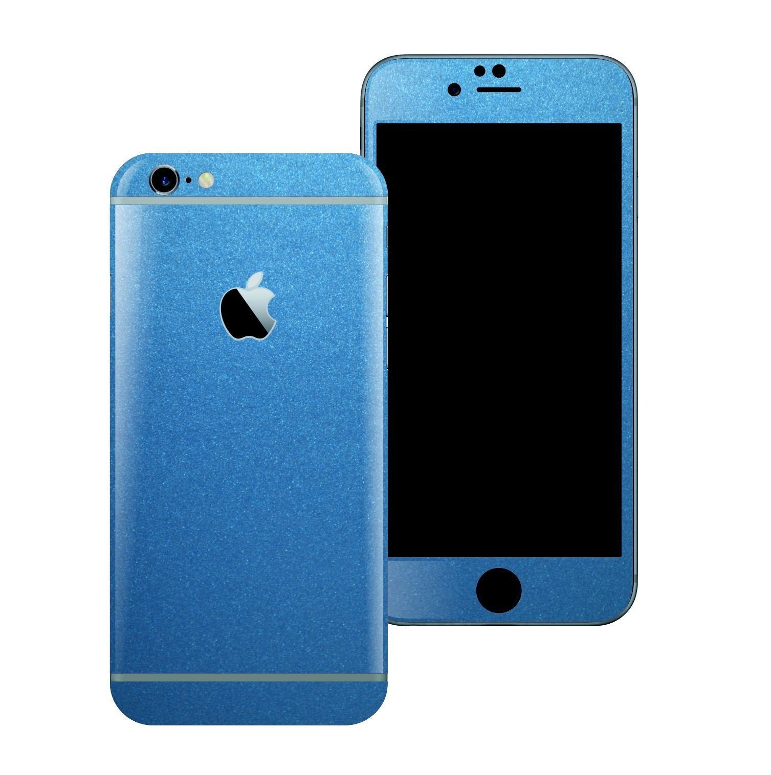 iPhone 6S Colorful Matt Azure Blue Metallic Skin Wrap Sticker Cover Protector Decal by EasySkinz