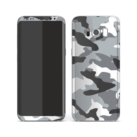 Samsung Galaxy S8 Print Custom Signature Grey Camouflage Camo Skin Wrap Decal by EasySkinz
