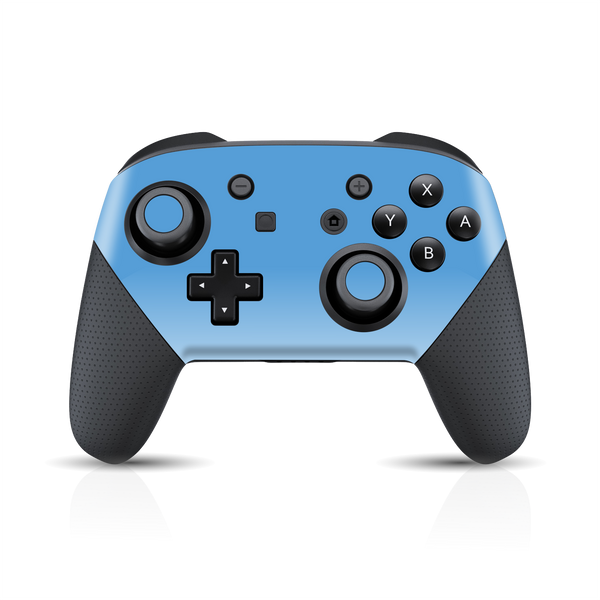 Nintendo Switch Pro Controller SKY BLUE Gloss Glossy Skin, Decal, Wrap, Protector, Cover by EasySkinz | EasySkinz.com