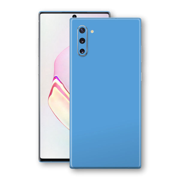 Samsung Galaxy NOTE 10 Glossy SKY BLUE Skin, Decal, Wrap, Protector, Cover by EasySkinz | EasySkinz.com