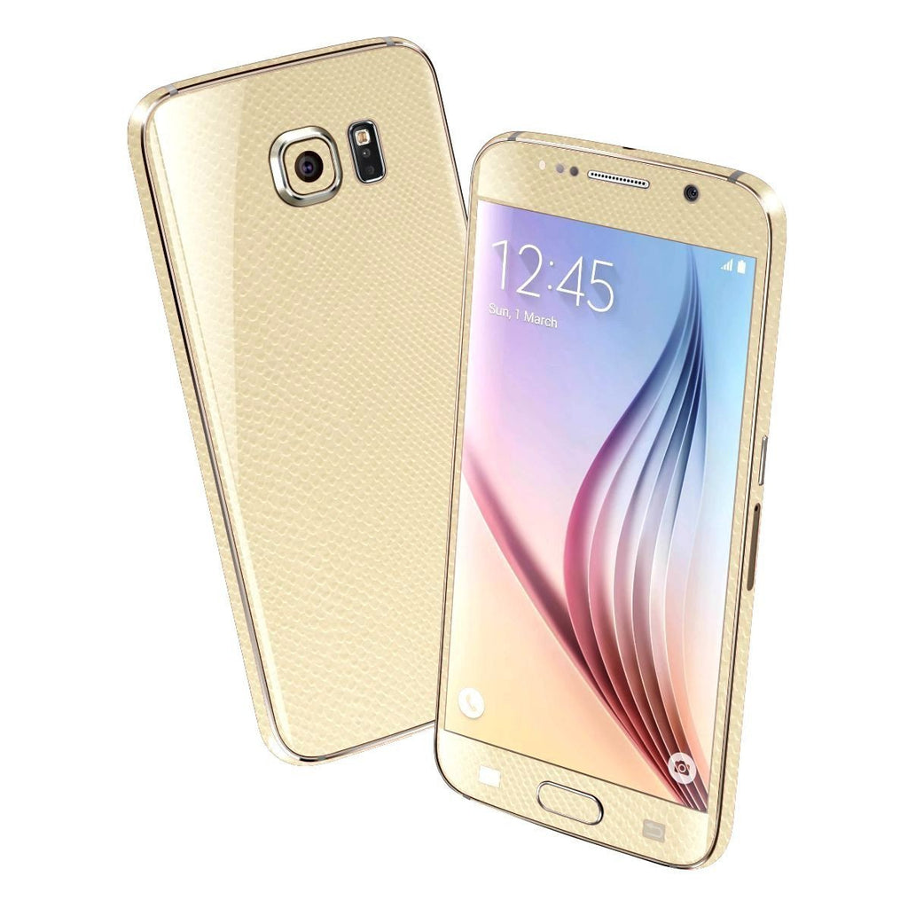 Samsung Galaxy S6 BEIGE MAMBA SNAKE Skin Wrap Sticker Cover Protector Decal by EasySkinz
