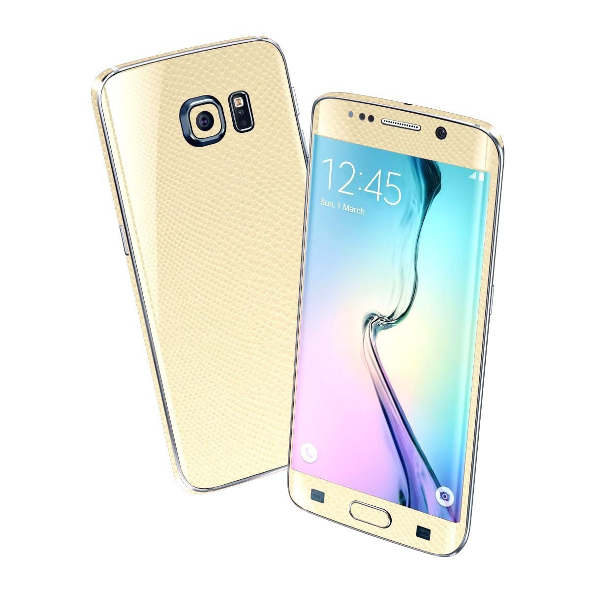 Samsung Galaxy S6 EDGE BEIGE MAMBA SNAKE Skin Wrap Sticker Cover Protector Decal by EasySkinz