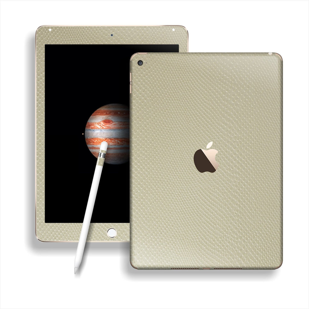 iPad PRO Beige Mamba Snake Leather Skin Wrap Sticker Decal Cover Protector by EasySkinz