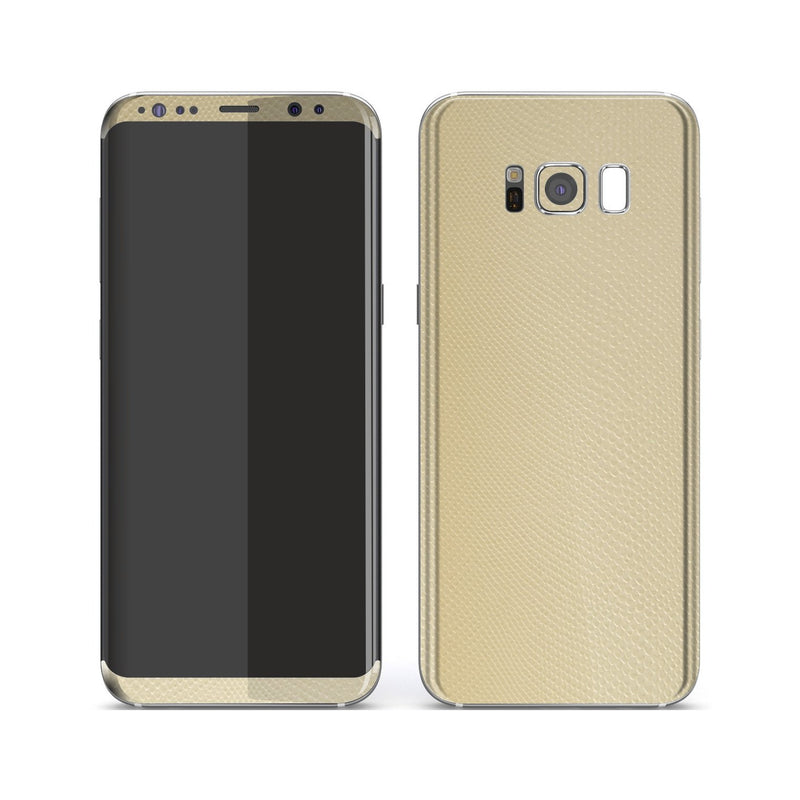 Samsung Galaxy S8+ Beige Mamba Snake Leather Skin, Decal, Wrap, Protector, Cover by EasySkinz | EasySkinz.com
