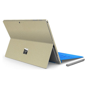 Microsoft Surface PRO 4 Beige Mamba Snake Leather Skin Wrap Sticker Decal Cover Protector by EasySkinz