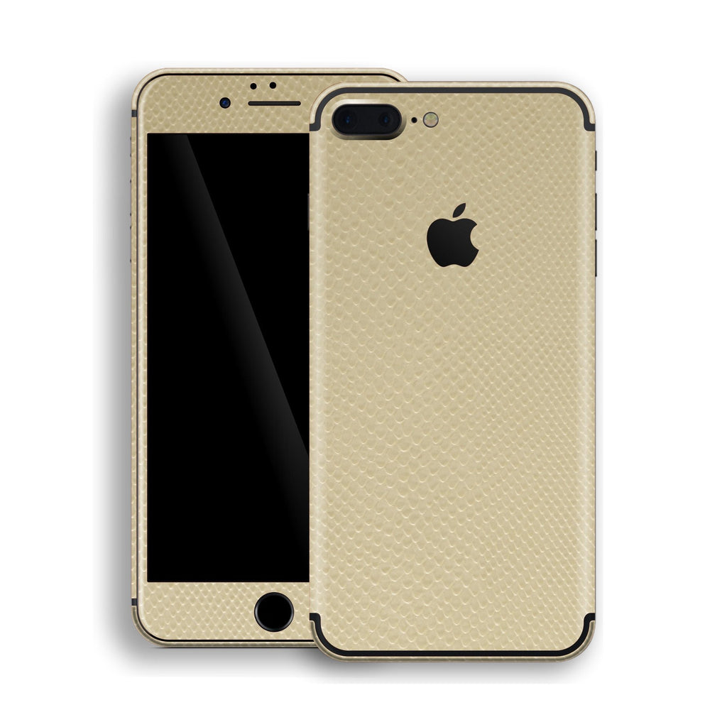 iPhone 7 Plus Beige Mamba Snake Leather Skin, Decal, Wrap, Protector, Cover by EasySkinz | EasySkinz.com