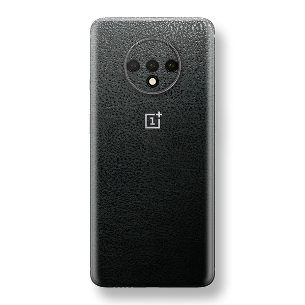 OnePlus 7T Luxuria BLACK Leather Skin Wrap Decal Protector | EasySkinz