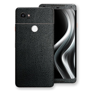 Google Pixel 2 XL Luxuria BLACK Leather Skin Wrap Decal Protector | EasySkinz