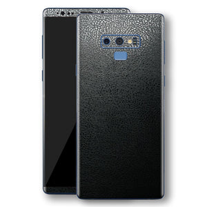 Samsung Galaxy NOTE 9 Luxuria BLACK Leather Skin Wrap Decal Protector | EasySkinz