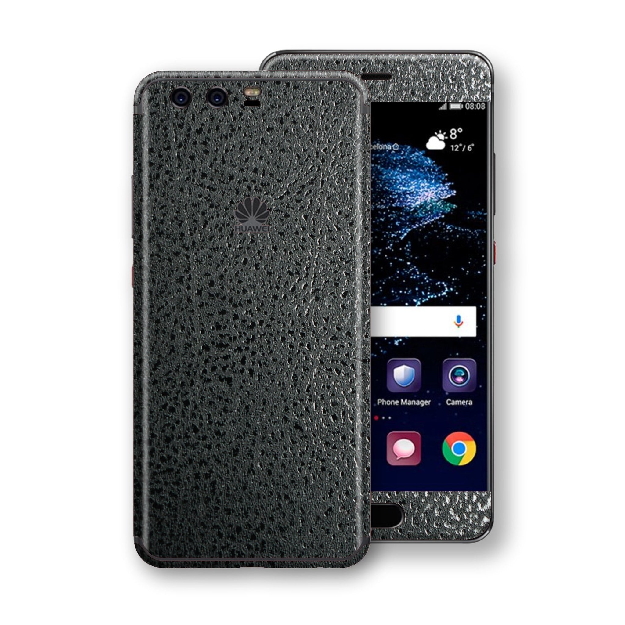 Huawei P10  Luxuria BLACK Leather Skin Wrap Decal Protector | EasySkinz
