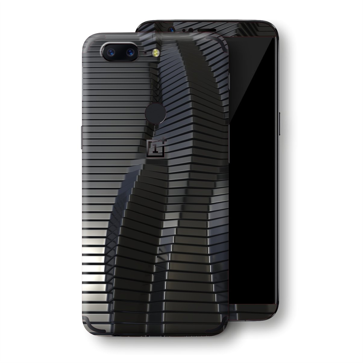 OnePlus 5T Black 3D Stripes Skin, Decal, Wrap, Protector, Cover by EasySkinz | EasySkinz.com