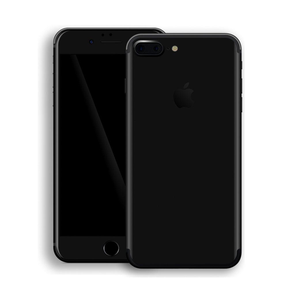 iPhone 7 Plus Black Glossy Gloss Finish Skin, Decal, Wrap, Protector, Cover by EasySkinz | EasySkinz.com
