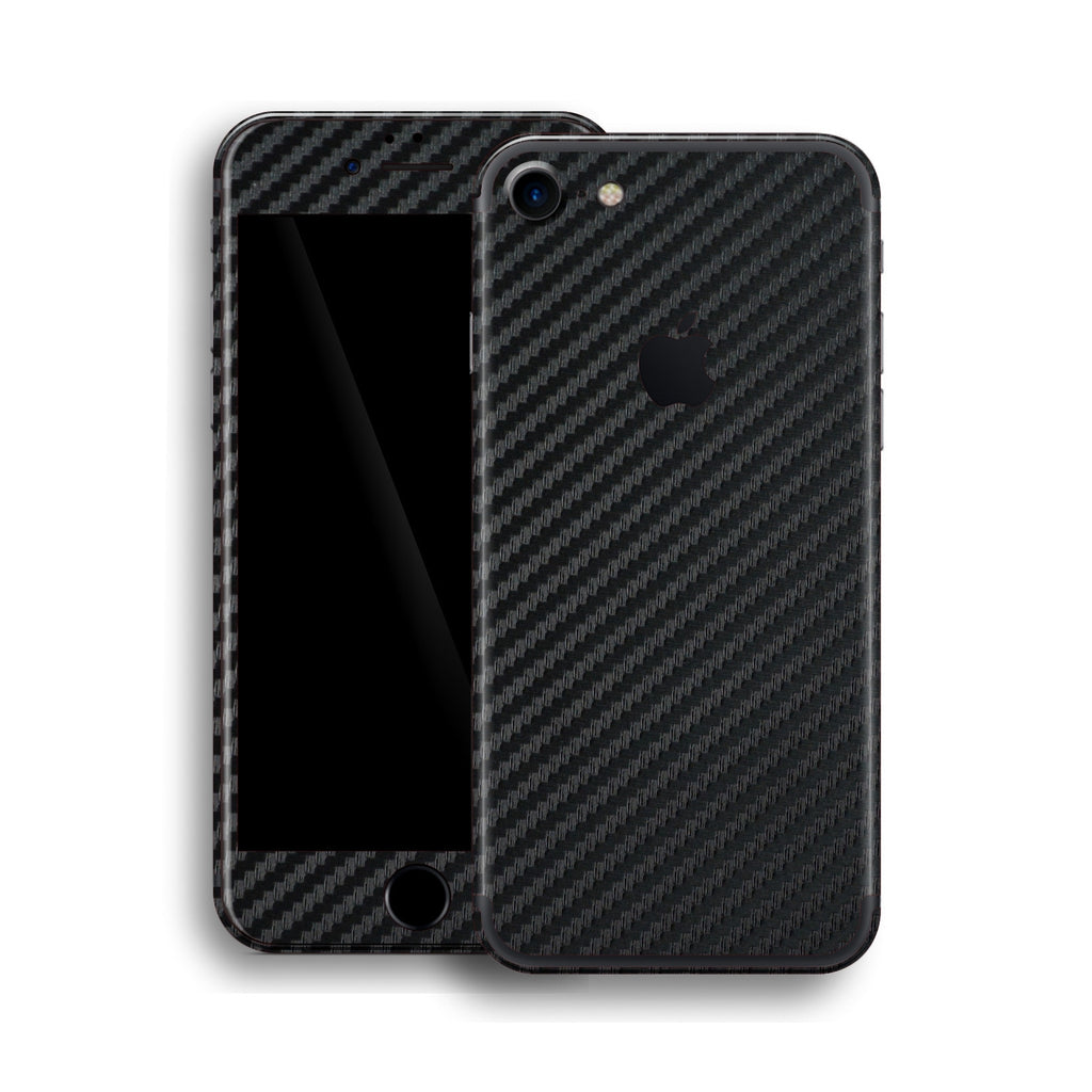 iPhone 7 Black 3D Textured CARBON Fibre Fiber Skin, Wrap, Decal, Protector, Cover by EasySkinz | EasySkinz.com