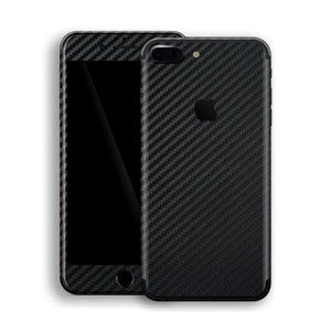 iPhone 7 Plus 3D Textured Black Carbon Fibre Fiber Skin, Decal, Wrap, Protector, Cover by EasySkinz | EasySkinz.com