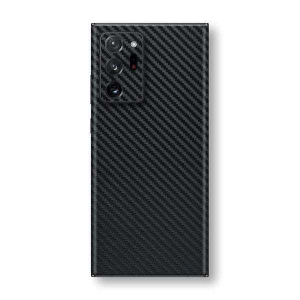 Samsung Galaxy NOTE 20 ULTRA 3D Textured Black Carbon Fibre Fiber Skin Wrap Sticker Decal Cover Protector by EasySkinz