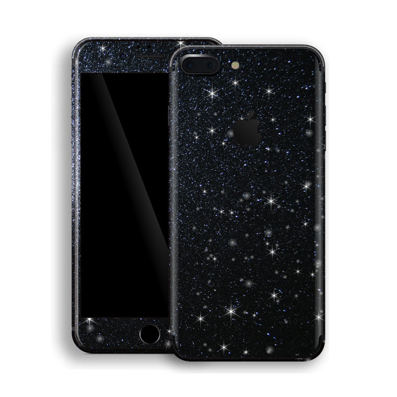 iPhone 8 Plus Diamond Black Shimmering, Sparkling, Glitter Skin, Decal, Wrap, Protector, Cover by EasySkinz | EasySkinz.com