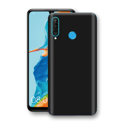 Huawei P30 LITE Black Glossy Gloss Finish Skin, Decal, Wrap, Protector, Cover by EasySkinz | EasySkinz.com