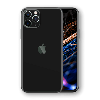 iPhone 11 PRO Luxuria JET BLACK High Gloss Finish Skin Wrap Decal Protector | EasySkinz  Edit alt text