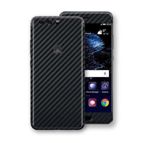 Huawei P10+ PLUS 3D Textured Black Carbon Fibre Fiber Skin, Decal, Wrap, Protector, Cover by EasySkinz | EasySkinz.com