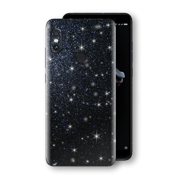 XIAOMI Redmi NOTE 5 Diamond Black Shimmering, Sparkling, Glitter Skin, Decal, Wrap, Protector, Cover by EasySkinz | EasySkinz.com