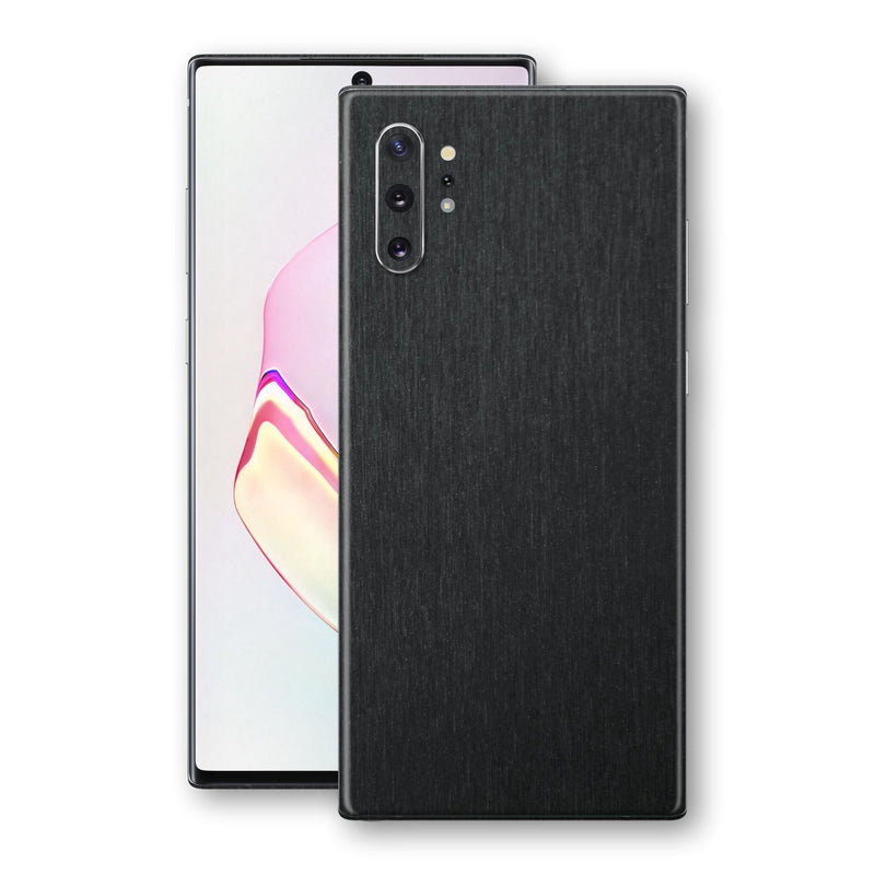 Samsung Galaxy NOTE 10+ PLUS Brushed Black Metallic Metal Skin, Decal, Wrap, Protector, Cover by EasySkinz | EasySkinz.com