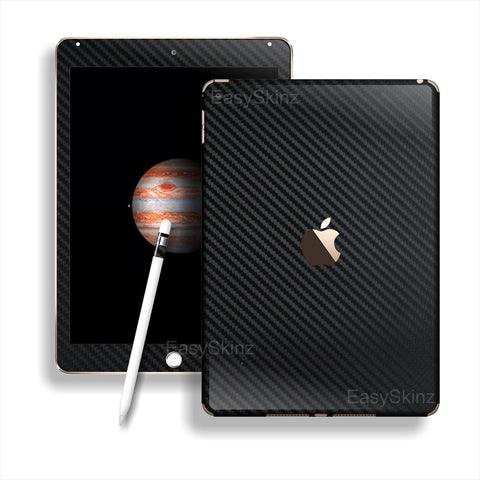 iPad PRO 3D Textured Black CARBON Fibre Fiber Skin Wrap Sticker Decal Cover Protector by EasySkinz