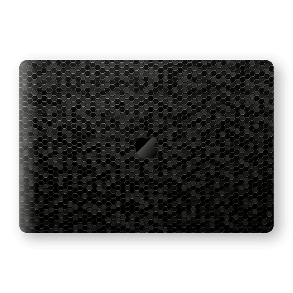 "MacBook Pro 15"" Touch Bar BLACK Honeycomb 3D Textured Skin Wrap Sticker Decal Cover Protector by EasySkinz"