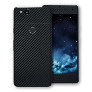Google Pixel 2 3D Textured Black Carbon Fibre Fiber Skin, Decal, Wrap, Protector, Cover by EasySkinz | EasySkinz.com