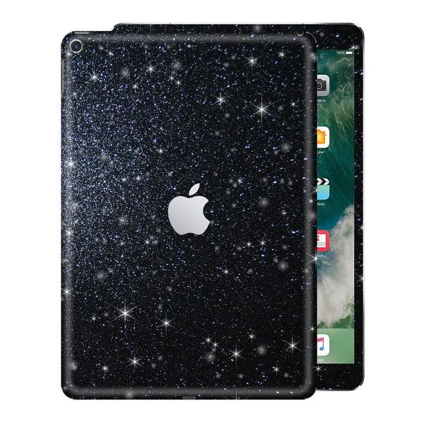 "iPad 9.7"" inch 5th Generation 2017 Diamond BLACK Glitter Shimmering Skin Wrap Sticker Decal Cover Protector by EasySkinz"