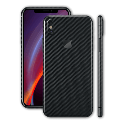 iPhone X Black 3D Textured CARBON Fibre Fiber Skin, Wrap, Decal, Protector, Cover by EasySkinz | EasySkinz.com