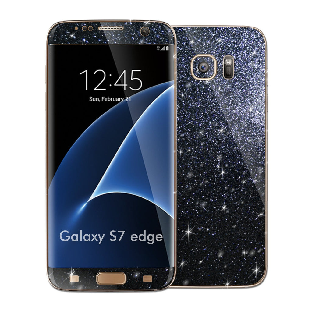 Samsung Galaxy S7 EDGE DIAMOND BLACK Skin Wrap Decal Sticker Cover Protector by EasySkinz