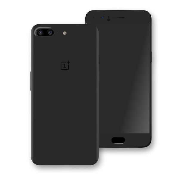 OnePlus 5 Black Glossy Gloss Finish Skin, Decal, Wrap, Protector, Cover by EasySkinz | EasySkinz.com